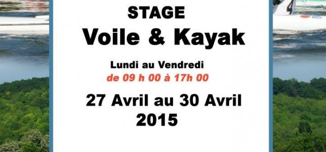 STAGE VOILE & KAYAK – VACANCES PAQUES 2015